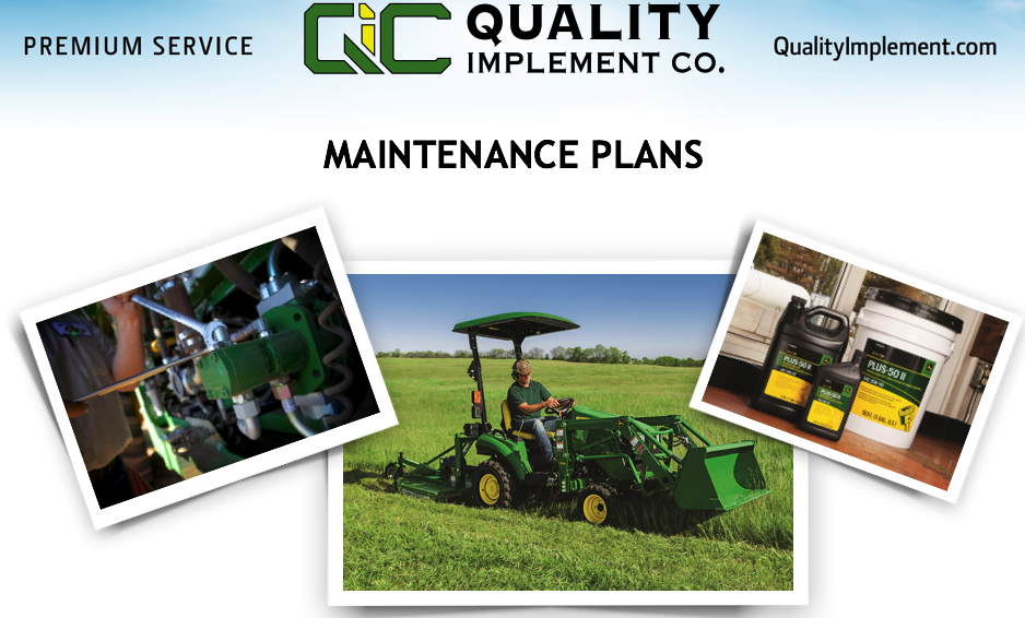 Click to See Maintenance Plans for YOUR Equipment