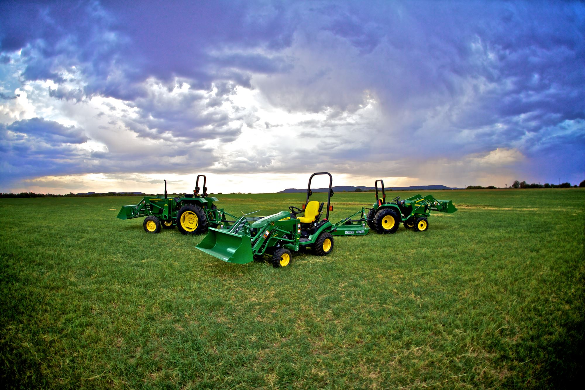 John Deere Field of Tractors